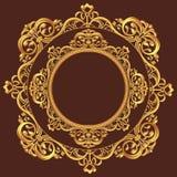 金黄圈子装饰品 库存图片