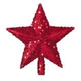 金黄圣诞节星形装饰 库存图片