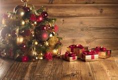 金黄圣诞节概念 安置文本 库存图片