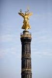 金黄壮观的雕象 免版税图库摄影