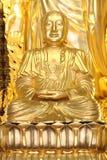 金黄大的菩萨 库存照片