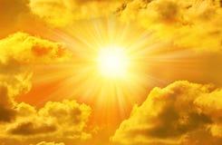 金黄天空星期日 免版税库存照片