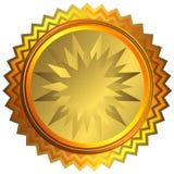 金黄奖牌向量 向量例证