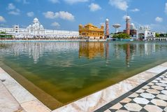 金黄寺庙哈曼迪尔寺,阿姆利则,旁遮普邦,印度 免版税库存照片
