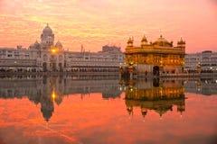 金黄寺庙,旁遮普邦,印度。 图库摄影