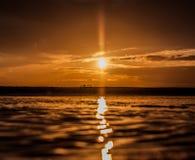 金黄小时在桑卢卡尔德瓦拉梅达 免版税图库摄影