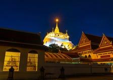 金黄山寺庙, Wat Saket曼谷 库存图片