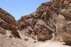 金黄峡谷足迹在死亡谷国家公园, Â加利福尼亚, 免版税库存照片