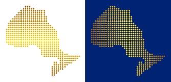 金黄抽象安大略省地图 皇族释放例证