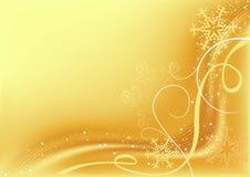 金黄抽象的圣诞节 库存例证