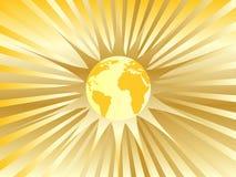 金黄抽象的地球 免版税库存照片
