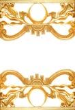 金黄抽象的边界 库存图片