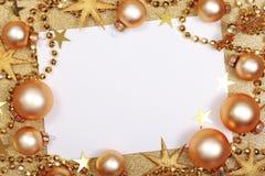金黄抽象背景的圣诞节 免版税库存照片