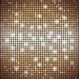 金黄抽象马赛克的背景与光的 库存照片
