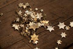 金黄星形 库存照片