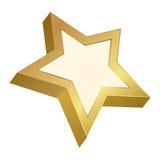 金黄星形 免版税库存照片