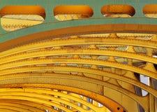 金黄曲拱的射线 库存照片
