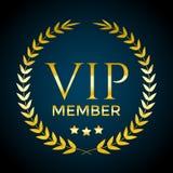 金黄月桂树花圈和VIP成员文本 传染媒介邀请设计模板 皇族释放例证