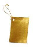 金黄标签 免版税图库摄影
