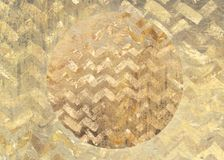金黄样式脏的织地不很细圈子背景 图库摄影