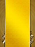 金黄模板黄色 库存图片