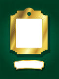 金黄横幅的框架 库存照片