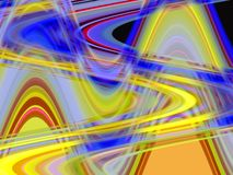 金黄橙色蓝色桃红色软的流体线几何背景、图表、抽象背景和纹理 皇族释放例证