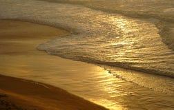 金黄沙子 库存照片