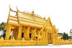金黄泰国教会 免版税库存照片