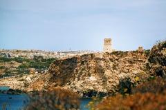 金黄海湾在马耳他 免版税库存照片