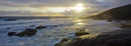 金黄海滩的门 免版税图库摄影