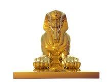 金黄狮身人面象 皇族释放例证