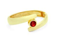 金黄环形红宝石 免版税库存图片