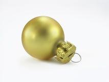 金黄球的圣诞节 图库摄影