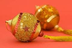 金黄球的圣诞节 免版税库存图片