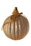 金黄球的弓 免版税库存照片