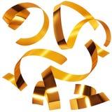 金黄的五彩纸屑 免版税库存图片