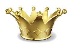 金黄的冠 库存图片