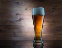 金黄的啤酒杯 免版税库存照片