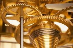 金黄的大齿轮 免版税库存图片