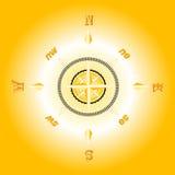 金黄的指南针 免版税库存照片