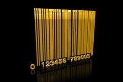 金黄的条形码 库存图片