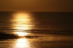 金黄的海湾 库存照片