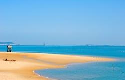 金黄的海滩 库存照片