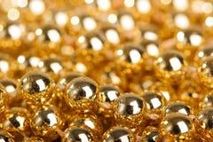 金黄的球许多 免版税图库摄影
