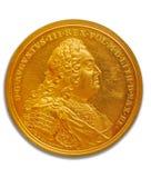 金黄的硬币 免版税图库摄影