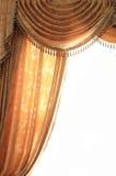 金黄的窗帘 库存照片
