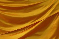 金黄的窗帘 库存图片
