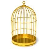 金黄的笼子 库存照片