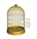 金黄的笼子 免版税库存照片